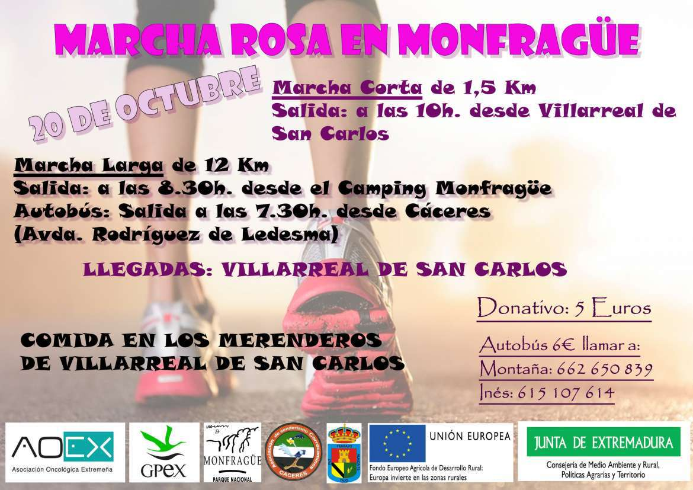 Marcha Rosa Monfrague 2018