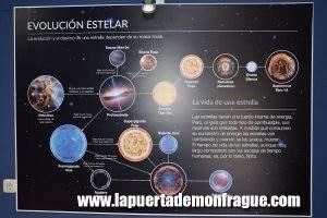Carteles explicativos Observatorio Astronómico Monfragüe