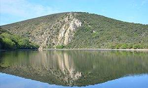 Foto de la portilla del tietar en el parque NAcional de Monfragüe
