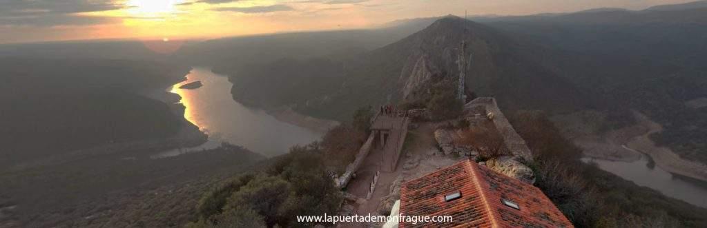 Panoramica del Mirador Castillo en el parque Nacional de Monfrague