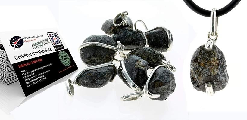 Colgantes de Meteoritos Certificados