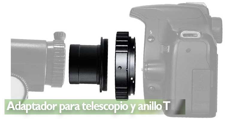 Adaptador para telescopio y anillo T