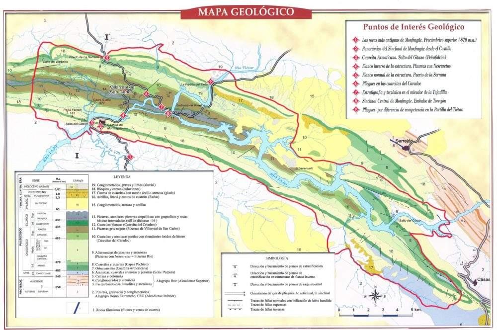 Mapa Geologico de Monfrague
