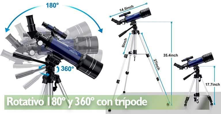 Telescopio astronómico Rotativo