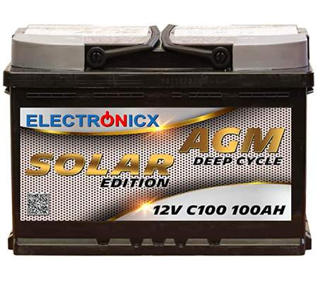 Bateria Solar Electronicx AGM 12v 100ah