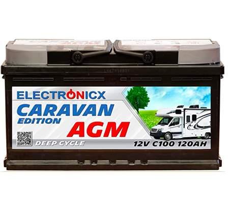 Electronicx Bateria solar AGM 12v 120ah Caravan Edition V2