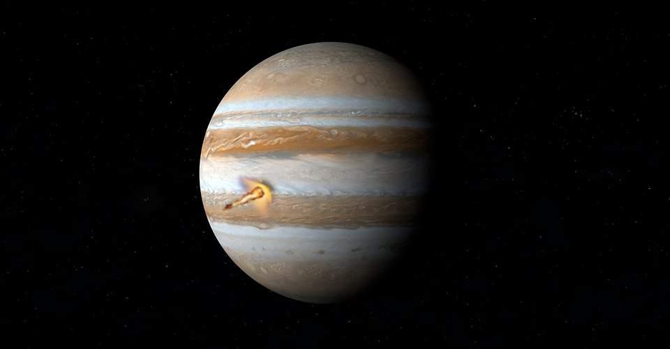 Astrónomo aficionado capta impacto en el planeta Júpiter